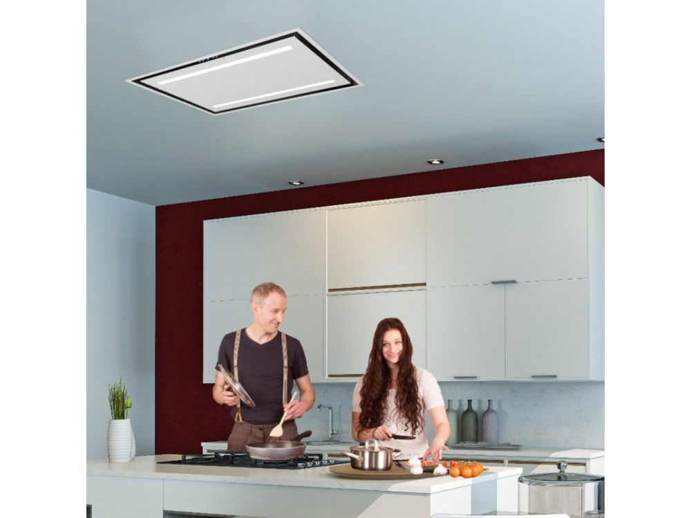 Lux Air LA90DELUXSS - 90cm x 60cm Ceiling Hood in Stainless Steel 950m3hr (Maybe Recirc using Filters)