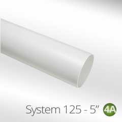 system 125-5 125mm round ducting pipe one meter