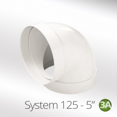 system 125-5 125mm 90 degree round elbow