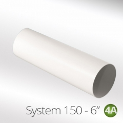 "system 150-6"" 150mm round ducting pipe one meter"