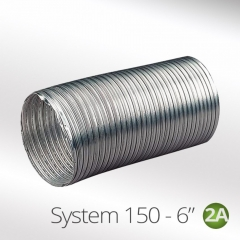 system 150-6 150mm aluminium semi rigid flexible duct hose