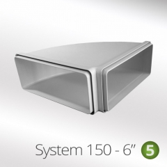 system 150-6 150mm 90 degree horizontal elbow 220x90mm
