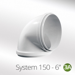 system 150-6 150mm 90 degree round elbow