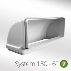 system 150-6 150mm 90 degree vertical elbow 220x90mm