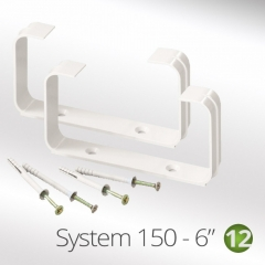 system 150-6 150mm flat tube ducting clips (2 per pack) 220x90mm