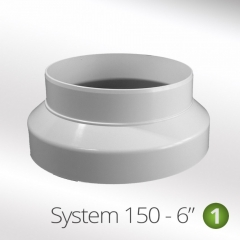 system 150-6 150mm to 125mm ducting reducer collar