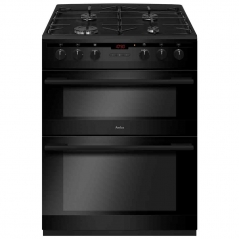 amica afd6450bl dual fuel 60cm double oven in black