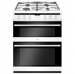 amica afg6450wh gas double oven and gas hob in white