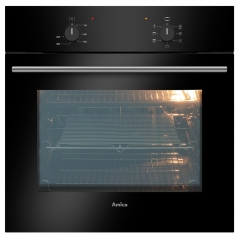 amica asc200bl singe fan oven in black - no timer