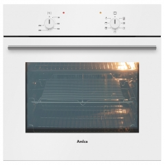 amica asc200wh single fan oven in white - no timer