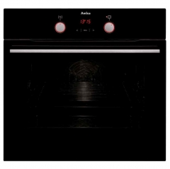amica asc420bl single multifunction oven in black