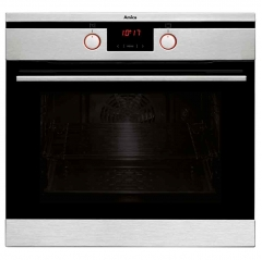 amica asc420ss muiltifunction single oven in stainless steel