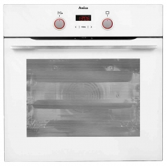 amica asc420wh multifunction single oven in white