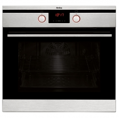 amica asc460ss pyrolytic multifunction oven with soft close door in stainless steel