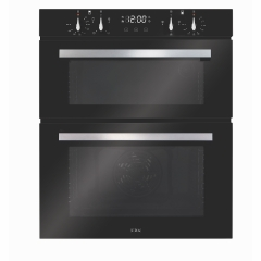 cda dc741bl double built under oven in black