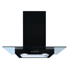 cda ecn62bl 60cm flat glass hood in black