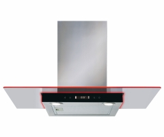 cda ekn90ss 90cm flat glass cooker hood in stainless steel with edge lighting