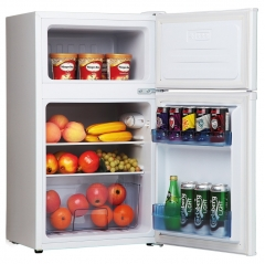 amica fd1714 50cm wide 85cm high fridge freezer in white