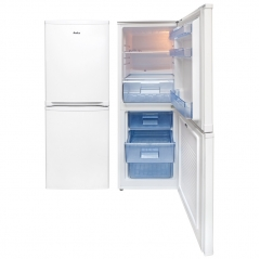 amica fk1964 50cm wide 1230cm high fridge freezer in white