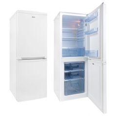 amica fk1974 50cm wide 141cm high fridge freezer in white