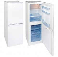 amica fk1984 50cm wide 155cm high fridge freezer in white