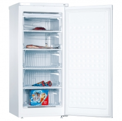 amica fz2063 55cm wide 126cm high freestanding freezer in white