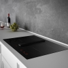 lux air la78arcus 78cm induction hob with extractor fan