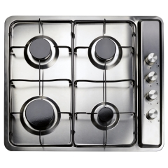 matrix mhg101ss 60cm four burner gas hob, stainless steel