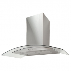 amica okp9321g 90cm curved glass extractor