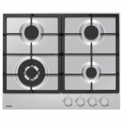 amica pgz6412 60cm gas hob in stainless steel