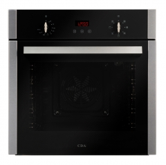 cda sc223ss single electric oven in stainless steel with timer