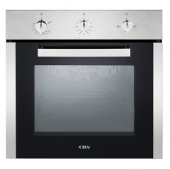 cda sg120 gas (lpg) single fanned oven in stainless steel or white
