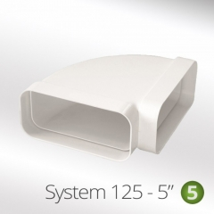 system 125-5 125mm 90 degree horizontal elbow 150x70mm