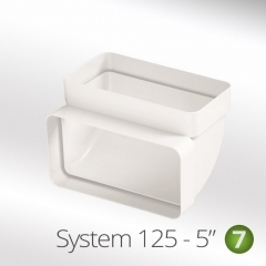 system 125-6 125mm 90 degree veritcal bend elbow 150x70mm