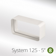 system 125-5 125mm rectangular flat pipe connector