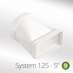 system 125-5 125m horizontal round to flat ducting connector 150x70mm