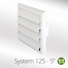 system 125-5 125mm louvred wall vents coloured