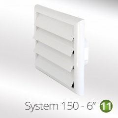 "system 150-6"" 150mm louvred wall vents coloured"