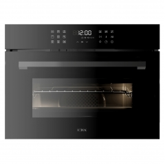 cda vk903bl compact microwave, grill and fan oven in black - matches sl range