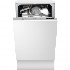 amica adi430 45cm integrated dishwasher a++ rating
