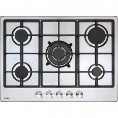 amica agh7100ss 70cm gas hob in stainless steel