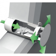 system 150-6 150mm automatic airtight wall vent
