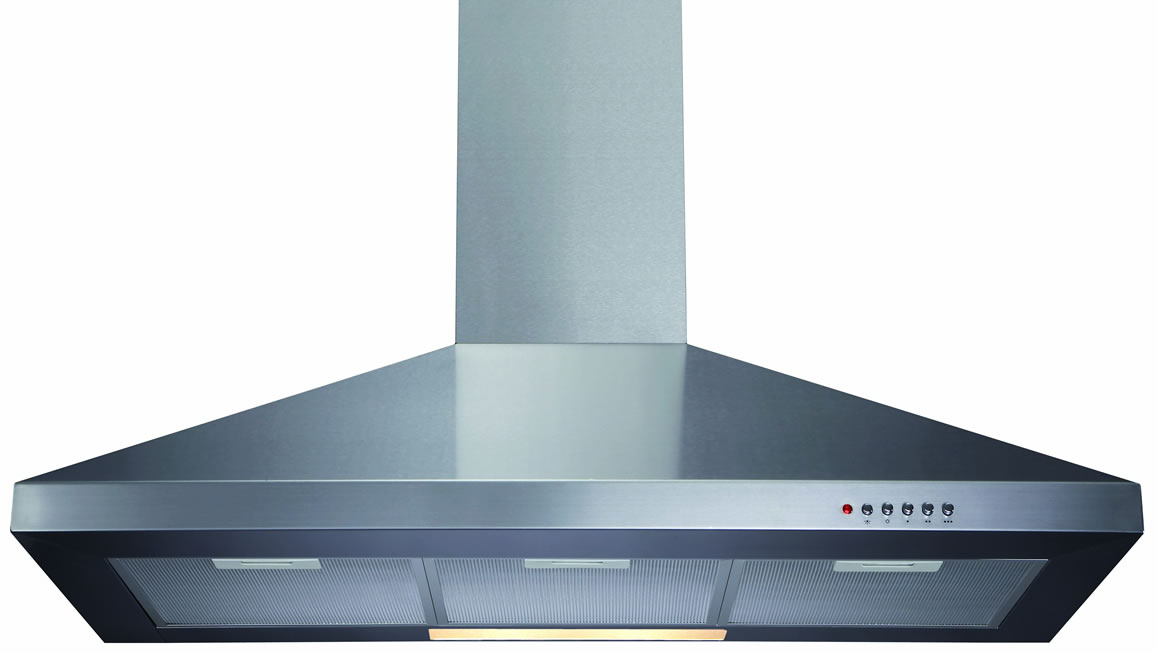 Cda Ech101 100cm Cooker Hood In Black And Stainless Steel