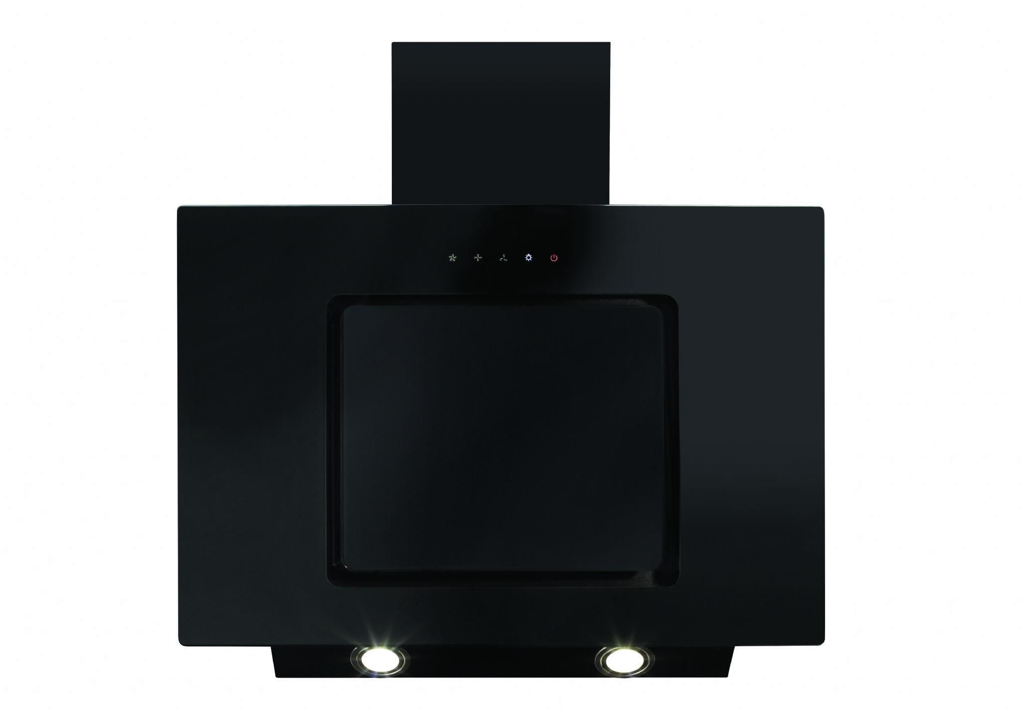 Cda Eva60bl 60cm Angled Extractor In Black 330m3hr