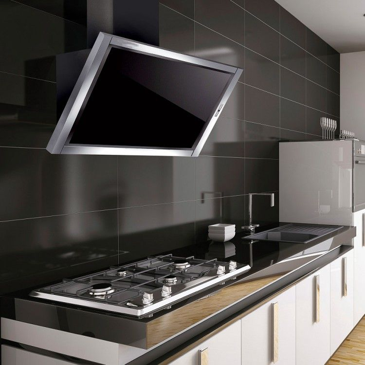 designer extractor fan kitchen air la120terelssbg 120cm angled cooker in stainless 6626