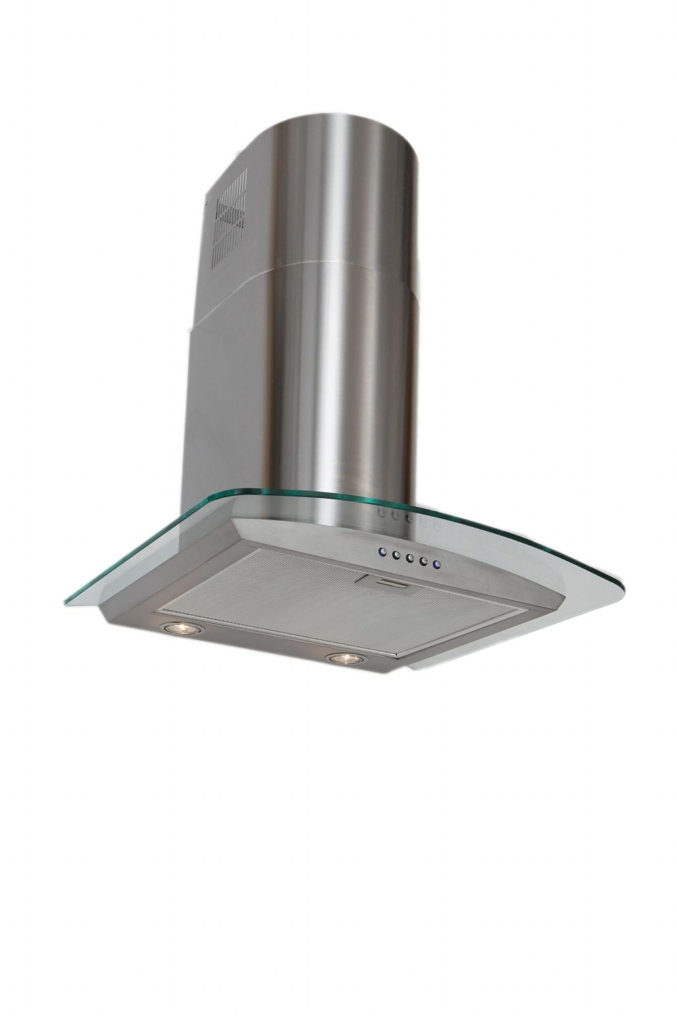 Lux Air La60cvdglss 60cm Chimney Hood Curved Glass And